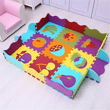 Eanpet Large Area Rugs For Kids Carpet Playmat For Baby Crawling Mat Double Sides Foam Floor Mat With Fence Baby Play Mat Foam Baby Activity Mat Baby Play Mat