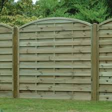 Arched Horizontal Boarded Fence Panel Pressure Treated Free Delivery Available