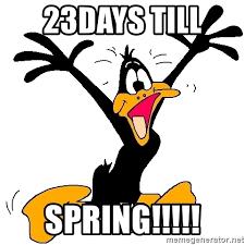 Image result for 23 days til spring