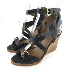 giorno sandals wedge heel black leather