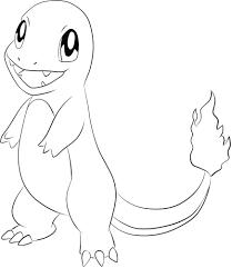 Pokemons Kleurplaten Charmander Desenhos Pokemon Desenho