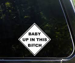 Baby Up In This B Tch Car Decal Dudeiwantthat Com