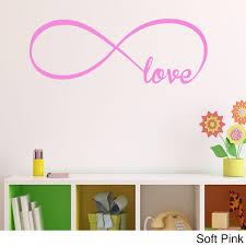 Shop Vinyl Love Infinity Symbol Wall Decal Overstock 12610093