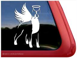 Custom Memorial Boxer Dog Stickers Decals Nickerstickers