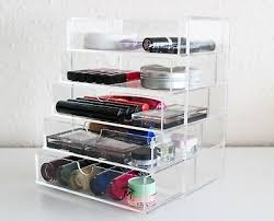 organiser clear acrylic makeup drawer