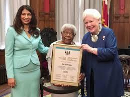 """Ontario Seniors on Twitter: """"Lillie Johnson receives her award ..."""