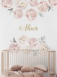 Peony Rose Flowers Wall Art Sticker Decals Living Room Home Waterproof Co
