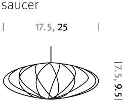 saucer crisscross bubble pendant lamp