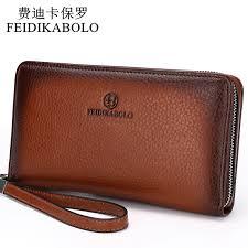 leather purse mens clutch wallets handy