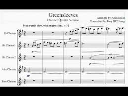 Alfred Reed Greensleeves cl5 - YouTube