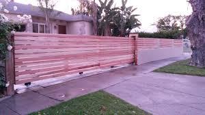 19 Long Horizontal Wood Rolling Driveway Gate Matching Fence Inserts 1 Woodfenceexpert Com