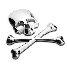 Autcarible 3d Skull Metal Car Motorcycle Sticker Label Skull Emblem Badge Car Styling Stickers Accessories Decal Walmart Com Walmart Com