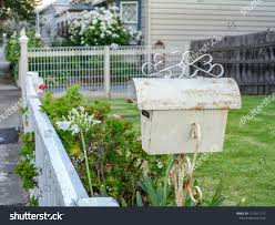 Old Rustic Mailbox Wrought Iron Lacework Stock Photo Edit Now 1010311717