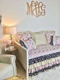 unicorn glam daybed bedding blush and