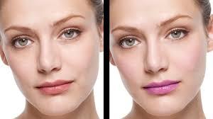 natural skin retouching applying
