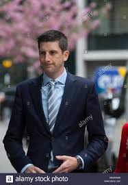 BBC reporter Dan Johnson who was outside Cliff Richard's property at the  time of the police raid, arrives at the Rolls Building to give evidence  Stock Photo - Alamy