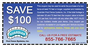 Pool Fence Coupons Get Up To 100 Off With Installation Guardian