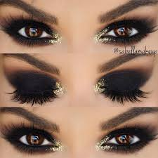 black and gold makeup for prom