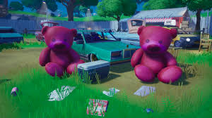 carry the giant pink teddy bear