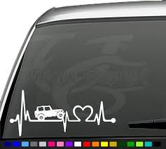 Jeep Life Heartbeat Decal Car Truck Window Sticker Jeep Decals Jeep Stickers Truck Window Stickers