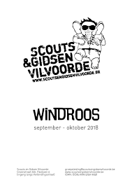 Windroos September Oktober 2018 By Scouts En Gidsen Vilvoorde