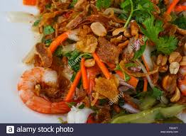 Traditional Asian seafood salad with ...