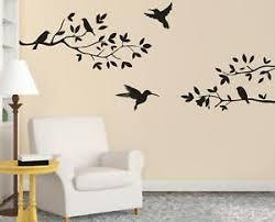 Birds On Tree Wall Sticker Decal Art Mural Stencil Silhouette Animals Vine St161 Ebay