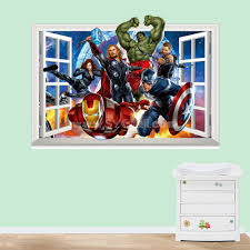 Marvel S The Avengers 3d Wall Stickers Decorative Wall Decal 50x70cm Sygmall