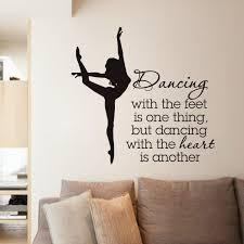 Elegant Ballet Dancer Wall Stickers For Dancer School Girls Bedroom Decor Quotes Dancing Wall Decal Living Room Dance Room Decor Ballet Room Decor Dance Rooms