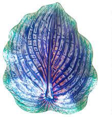 dark purple leaf shaped glass bowl