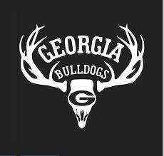 Deer Hunter Hunting Truck Decal Die Cut Georgia Bulldogs Sec Etsy