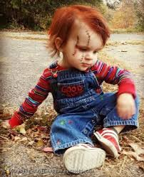 diy toddler chucky costume he will
