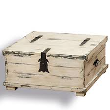 cape cod distressed white steamer trunk