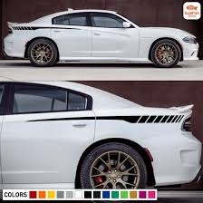 Amazon Com Rear Quarter Racing Spear Stripe Kit Sticker Decal Graphic Compatible With Dodge Charger All Models Kitchen Dining
