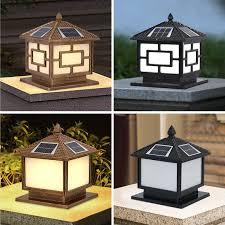 20cm 30cm 40cm Solar Power Fence Post Lights Waterproof Landscape Yard Pillar Lamp Led Outside Garden Decorate Solar Light Solar Lamps Aliexpress