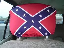 rebel flag head rest cover