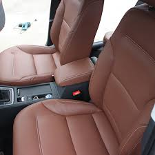 saddle brown leather car seat cover