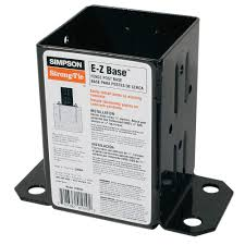 Simpson Strong Tie E Z Base Black Powder Coated Post Base For 4x4 Nominal Lumber Fpbb44 The Home Depot