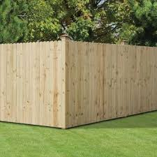 Severe Weather Actual 6 Ft X 8 Ft Natural Pressure Treated Pine Dog Ear Wood Fence Panel Lowes Com In 2020 Wood Privacy Fence Wood Fence Design Building A Fence