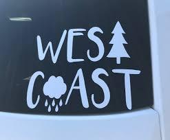 West Coast Car Decal Westcoast Decal Etsy