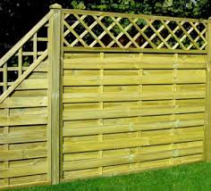 Fence Panel 431 Stepped Height All Planed 9mm Boards 2x2 Frame