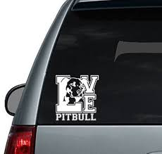Pit Bull Love Car Decal Dog Decal Laptop Decal Mackbook Etsy