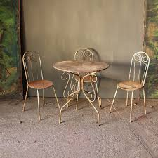 antique decorative metal table chairs