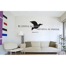 Be Joyful In Hope Faithful In Prayer Romans 12 12 Wall Decal Wall Decal Sticker Mural Vinyl Art Home Decor Christian Quotes And Sayings W5191 Sage 47n X 13in Walmart Com