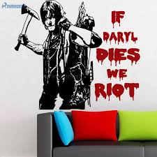 The Walking Dead Norman Reedus Daryl Dixon Zombies Wall Art Sticker Decal E674 Sticker Decal Wall Art Stickerswall Art Decals Aliexpress