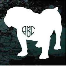 Bulldog Car Decals Stickers Decal Junky