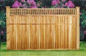 7ft X 8ft Cedar Wood Privacy Lattice Top Fence Neighbor