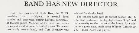 History 1960-1969 – Carlisle High School Band