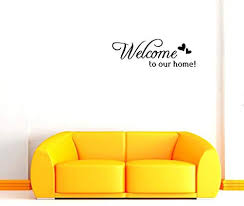 Wall Stickers Murals Bibitime Double Hearts Sayings Welcome To Our Home Door Sign Sticker Letters Wall Decal For Living Room Porch Garden Front Door Nursery Window Kids Room Decor 2826 Kids
