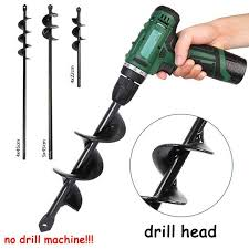 Electric Drill Head For Plant Planting Auger Bit Fence Post Hole Digger Drill Bit Ground Fence Post Hole Drilling Plant Tree Walmart Com In 2020 Post Hole Diggers Drill Bits Electric Drill